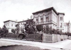 Gebäude des Friedrich-Wilhelms-Gymnasiums in der heutigen Puschkinpromenade