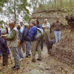 Die Fachgruppe Botanik/ Paläobotanik erkundet den Eem-Aufschluss Klinge 2003