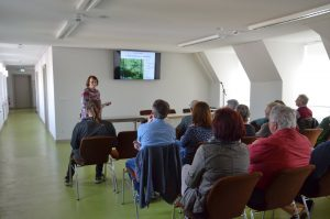 Vortrag von Ursula Striegler zur Entstehung des Tertiärwaldes im Cottbuser Spreeauenpark vor 30 Jahren.