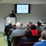 Andreas Massanek von der TU Bergakademie Freiberg referiert zur Ausstellungseröffnung