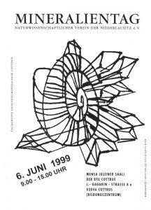 Plakat zum Mineralientag 1999. Sammlung K. Schmidt.