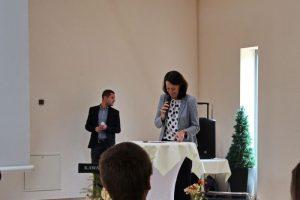 Begrüßung durch die Geschäftsführerin der CMT Cottbus Frau Daniela Kerzel