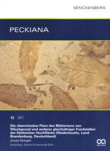 """Peckiana Band 12; """"Obermiozäne Flora von Wischgrund (Niederlausitz)"""""""